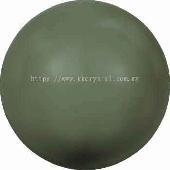 Swarovski 5810 Crystal Round Pearl, 08mm, Crystal Dark Green Pearl (001 814), 50pcs/pack