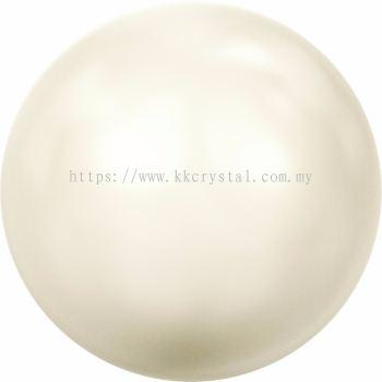 Swarovski 5810 Crystal Round Pearl, 08mm, Crystal Creamrose Pearl (001 621), 50pcs/pack