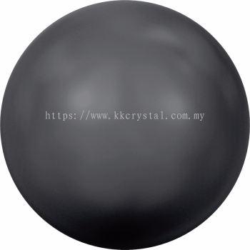 Swarovski 5810 Crystal Round Pearl, 08mm, Crystal Black Pearl (001 298), 50pcs/pack