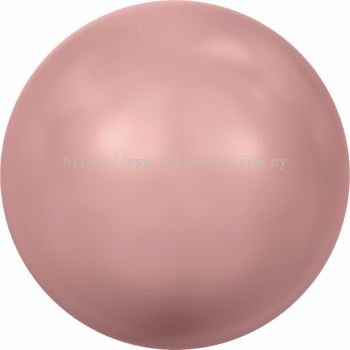 Swarovski 5810 Crystal Round Pearl, 10mm, Crystal Pink Coral Pearl (001 716), 50pcs/pack