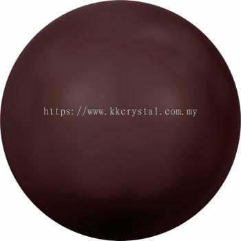Swarovski 5810 Crystal Round Pearl, 10mm, Crystal Maroon Pearl (001 388), 50pcs/pack