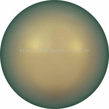 Swarovski 5810 Crystal Round Pearl, 10mm, Crystal Iridescent Green PRL (001 930), 50pcs/pack