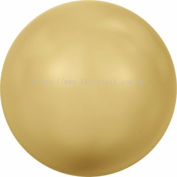 Swarovski 5810 Crystal Round Pearl, 10mm, Crystal Gold Pearl (001 296), 50pcs/pack