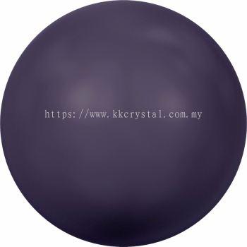 Swarovski 5810 Crystal Round Pearl, 10mm, Crystal Dark Purple Pearl (001 309), 50pcs/pack