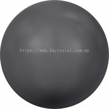 Swarovski 5810 Crystal Round Pearl, 10mm, Crystal Dark Grey Pearl (001 617), 50pcs/pack