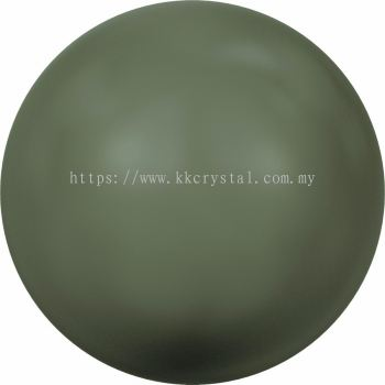 Swarovski 5810 Crystal Round Pearl, 10mm, Crystal Dark Green Pearl (001 814), 50pcs/pack