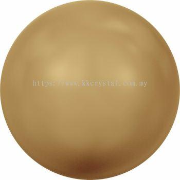 Swarovski 5810 Crystal Round Pearl, 10mm, Crystal Bright Gold Pearl (001 306), 50pcs/pack