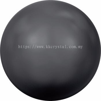 Swarovski 5810 Crystal Round Pearl, 10mm, Crystal Black Pearl (001 298), 50pcs/pack