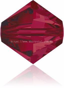 Swarovski 5328 XILION BEAD, 03MM, Ruby (501), 30pcs/pack