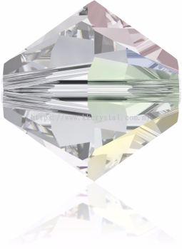 Swarovski 5328 XILION BEAD, 08MM, Crystal AB (001 AB), 4pcs/pack