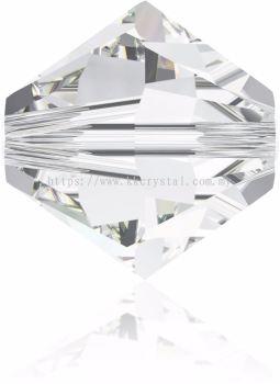 Swarovski 5328 XILION BEAD, 08MM, Crystal (001), 4pcs/pack