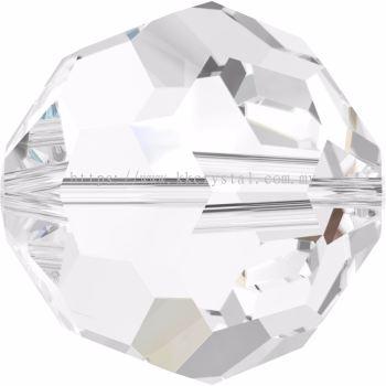 Swarovski 5000 Round Beads, 4mm, Crystal (001), 10pcs/pack