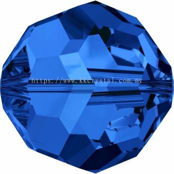 Swarovski 5000 Round Beads, 5mm, Sapphire (206), 10pcs/pack