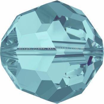Swarovski 5000 Round Beads, 6mm, Light Turquoise (263), 5pcs/pack