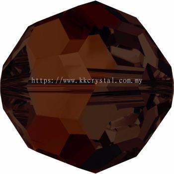 Swarovski 5000 Round Beads, 6mm, Mocca (286), 5pcs/pack