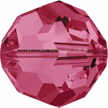 Swarovski 5000 Round Beads, 8mm, Indian Pink (289), 4pcs/pack
