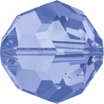 Swarovski 5000 Round Beads, 8mm, Light Sapphire (211), 4pcs/pack