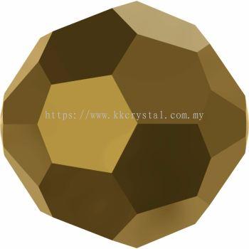Swarovski 5000 Round Beads, 10mm, Crystal Dorado 2x (001 DOR2), 2pcs/pack