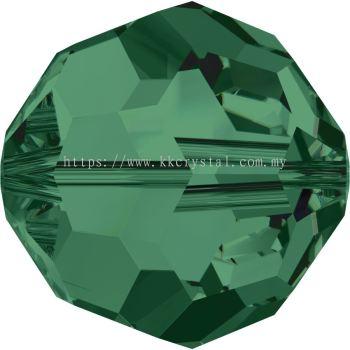 Swarovski 5000 Round Beads, 10mm, Emerald (205), 2pcs/pack