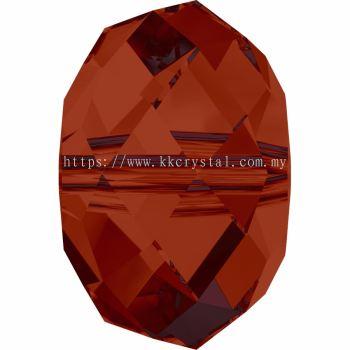 Swarovski 5040 Briolette Bead, 8mm, Crystal Red Magma (001 REDM), 4pcs/pack