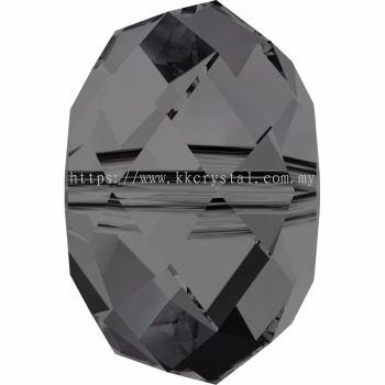 Swarovski 5040 Briolette Bead, 8mm, Crystal Silver Night (001 SINI), 4pcs/pack