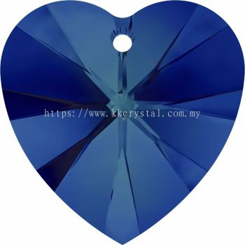 Swarovski 6228 Xilion Heart Pendant, 10.3x10mm, Crystal Bermuda Blue (001 BB), 4pcs/pack