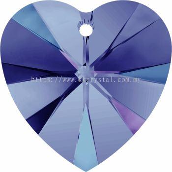 Swarovski 6228 Xilion Heart Pendant, 14.4x14mm, Crystal Heliotrope (001 HEL), 2pcs/pack