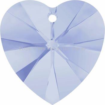Swarovski 6228 Xilion Heart Pendant, 14.4x14mm, Air Blue Opal (285), 2pcs/pack