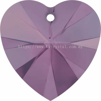 Swarovski 6228 Xilion Heart Pendant, 14.4x14mm, Cyclamen Opal (398), 2pcs/pack