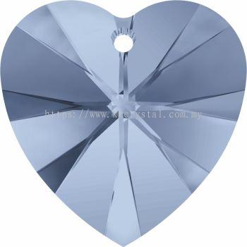 Swarovski 6228 Xilion Heart Pendant, 14.4x14mm, Denim Blue (266), 2pcs/pack
