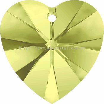 Swarovski 6228 Xilion Heart Pendant, 14.4x14mm, Jonquil (213), 2pcs/pack