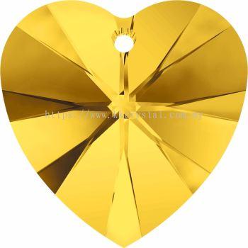 Swarovski 6228 Xilion Heart Pendant, 14.4x14mm, Light Topaz (226), 2pcs/pack