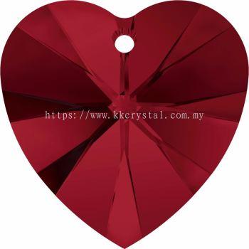 Swarovski 6228 Xilion Heart Pendant, 14.4x14mm, Siam (208), 2pcs/pack