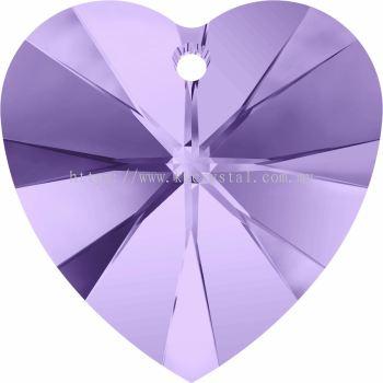 Swarovski 6228 Xilion Heart Pendant, 14.4x14mm, Tanzanite (539), 2pcs/pack