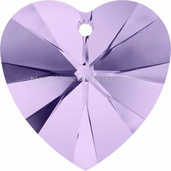 Swarovski 6228 Xilion Heart Pendant, 14.4x14mm, Violet (371), 2pcs/pack