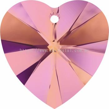Swarovski 6228 Xilion Heart Pendant, 18x17.5mm, Crystal Astral Pink (001 API), 1pcs/pack