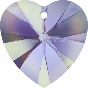 Swarovski 6228 Xilion Heart Pendant, 18x17.5mm, Crystal Vitrail Light (001 VL), 1pcs/pack