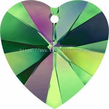 Swarovski 6228 Xilion Heart Pendant, 18x17.5mm, Crystal Vitrail Medium (001 VM), 1pcs/pack