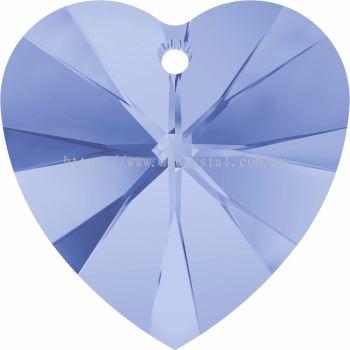 Swarovski 6228 Xilion Heart Pendant, 18x17.5mm, Light Sapphire (211), 1pcs/pack