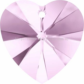 Swarovski 6228 Xilion Heart Pendant, 18x17.5mm, Rosaline (508), 1pcs/pack