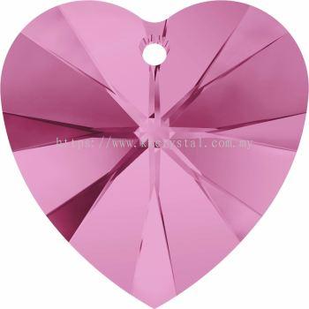 Swarovski 6228 Xilion Heart Pendant, 18x17.5mm, Rose (209), 1pcs/pack