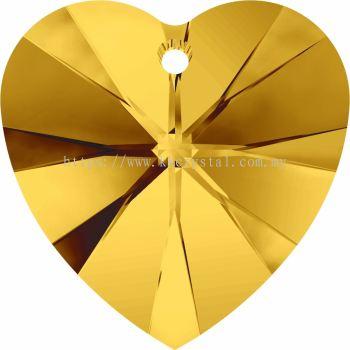 Swarovski 6228 Xilion Heart Pendant, 18x17.5mm, Sunflower (292), 1pcs/pack