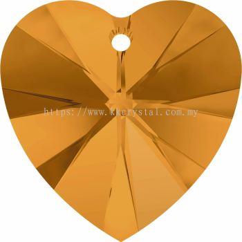 Swarovski 6228 Xilion Heart Pendant, 18x17.5mm, Topaz (203), 1pcs/pack