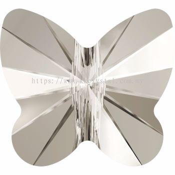 Swarovski 5754 Butterfly Bead, 8mm, Crystal Silver Shade (001 SSHA), 4pcs/pack