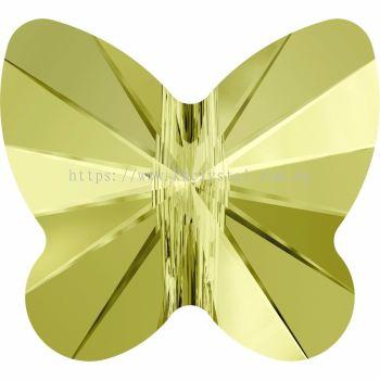 Swarovski 5754 Butterfly Bead, 8mm, Jonquil (213), 4pcs/pack