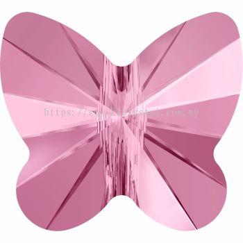 Swarovski 5754 Butterfly Bead, 8mm, Light Rose (223), 4pcs/pack