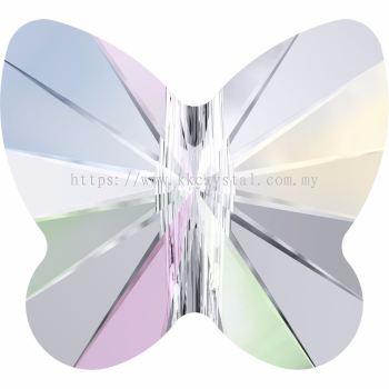 Swarovski 5754 Butterfly Bead, 8mm, Crystal AB (001 AB), 4pcs/pack