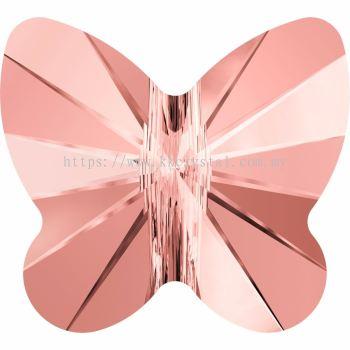 Swarovski 5754 Butterfly Bead, 10mm, Rose Peach (262), 2pcs/pack