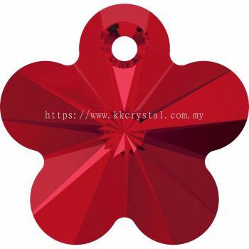 Swarovski 6744 Flower Pendant, 14mm, Light Siam (227), 2pcs/pack