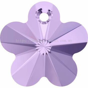 Swarovski 6744 Flower Pendant, 14mm, Violet (371), 2pcs/pack